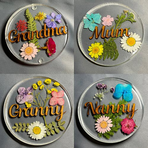 Personalized Flower Coasters