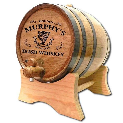 Personalized Irish Whiskey Barrel