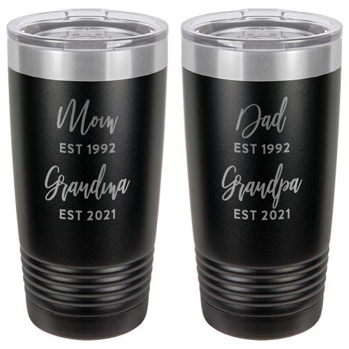 Matching Grandpa & Grandma Tumblers- Gifts for Grandparents