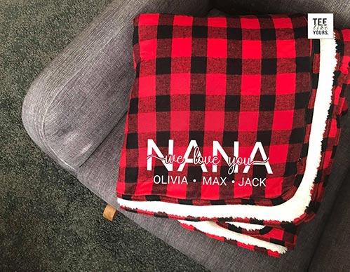 Personalized Nana Blankets