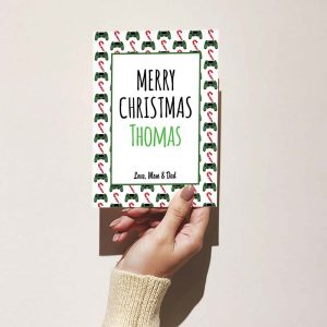 Christmas Cards for Gamers: Green Controller Pattern