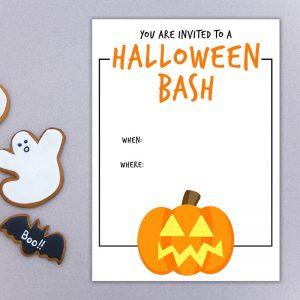 Halloween Bash Pumpkin Halloween Invite