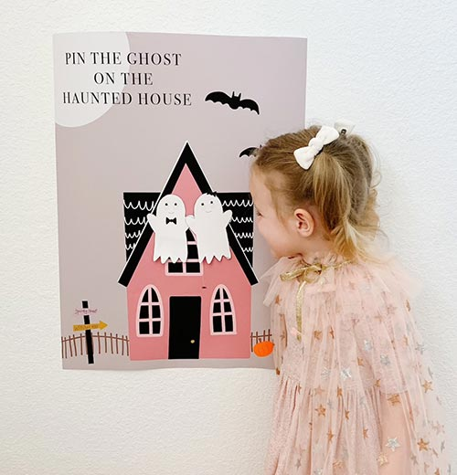 Halloween Games: Pin the Ghost on the Haunted House
