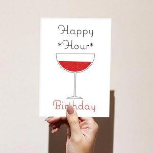 Happy Hour Happy Birthday Card