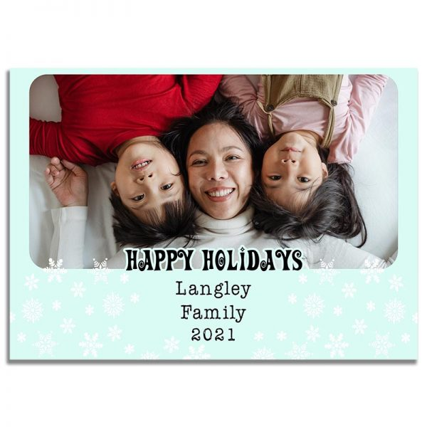 Downloadable Holiday Greeting Card: Snow Flutter