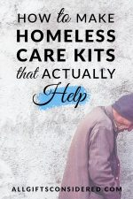 Homeless Care Kits that Actually Help