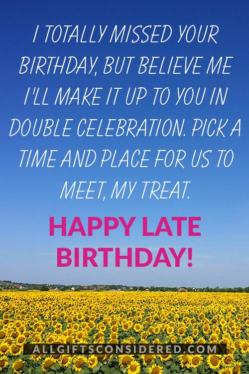 Sorry I Totally Missed Your Birthday