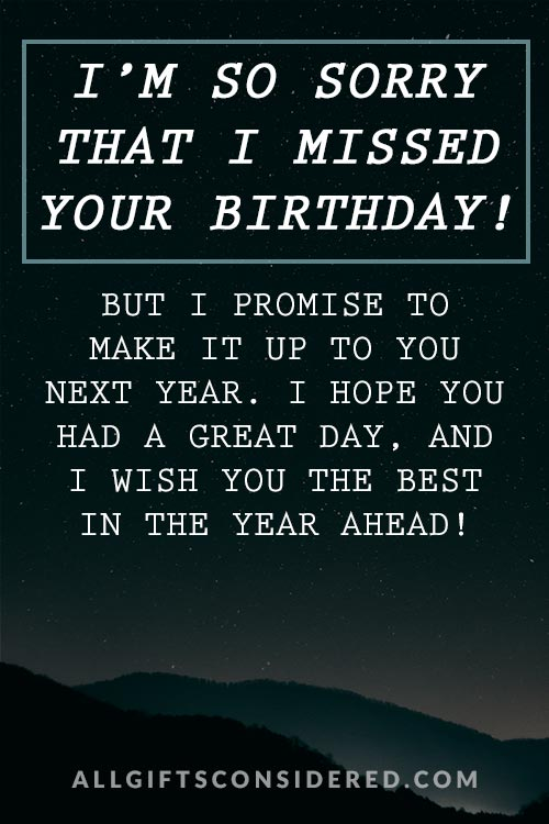 I'm so Sorry- Birthday Card
