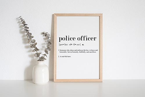 Police Officer Definition Wall Art