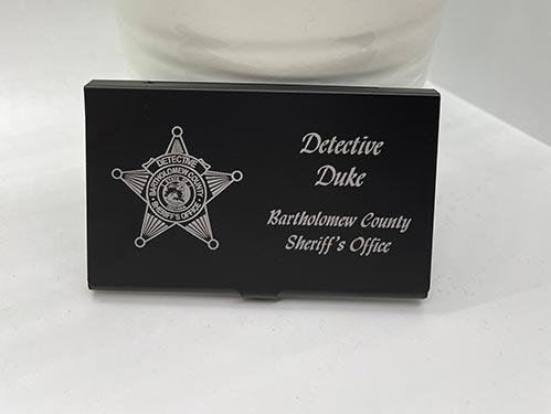 Engraved Sheriff's Office Card Holder