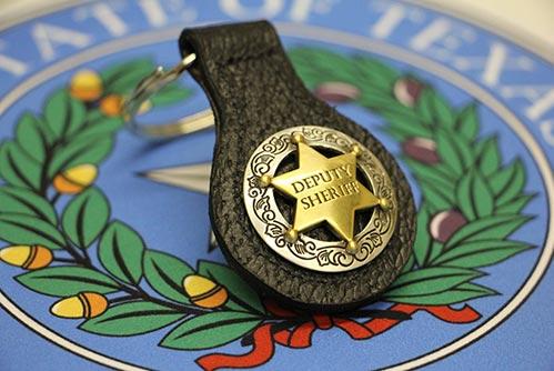 Leather Deputy Sheriff Keychain