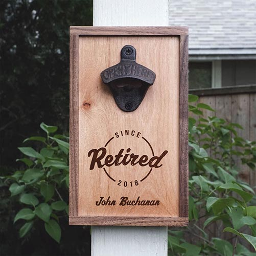 Personalized Bottle Opener for Retired Professionals