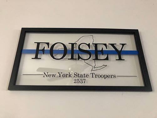 Personalized Frames for State Troopers