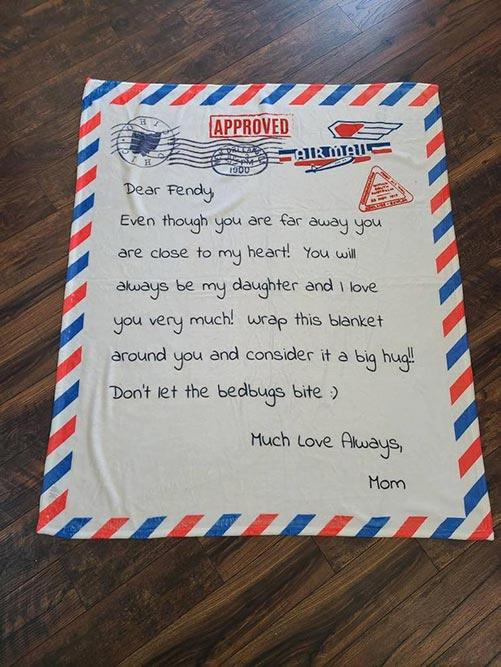 Letter on a Blanket