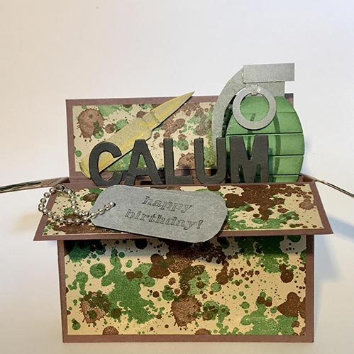 Personalized Military Pop Up Card