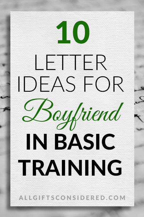 10 Basic Training Letter Ideas