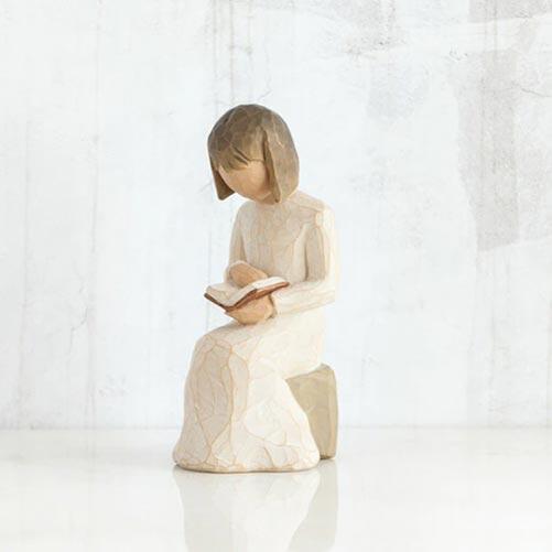 Book Reading Sculpture