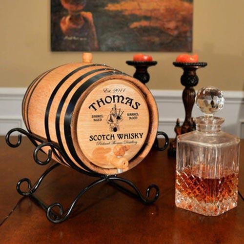 Gifts for Men: Aging Whiskey Barrel