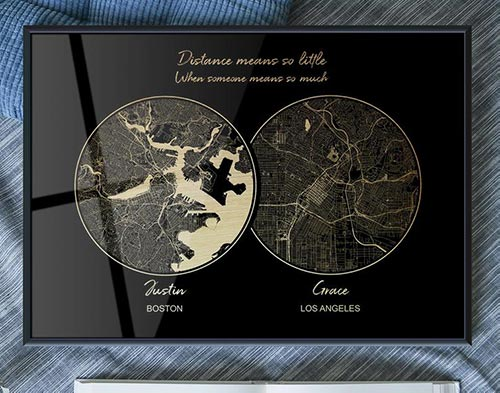 Personalized Gold City Maps