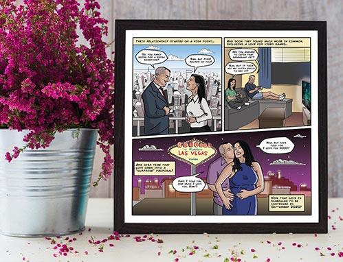Personalized Couple's Comic Strip