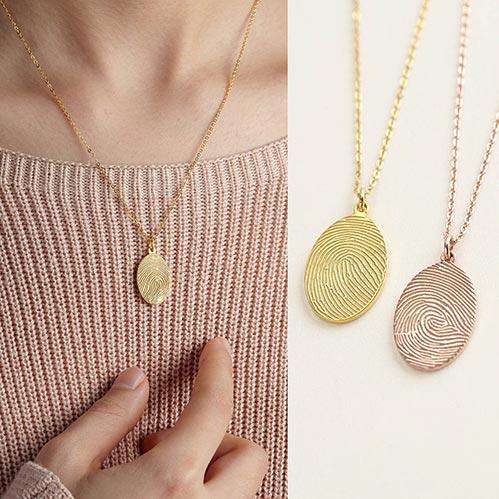 Personalized Thumb Print Jewelry