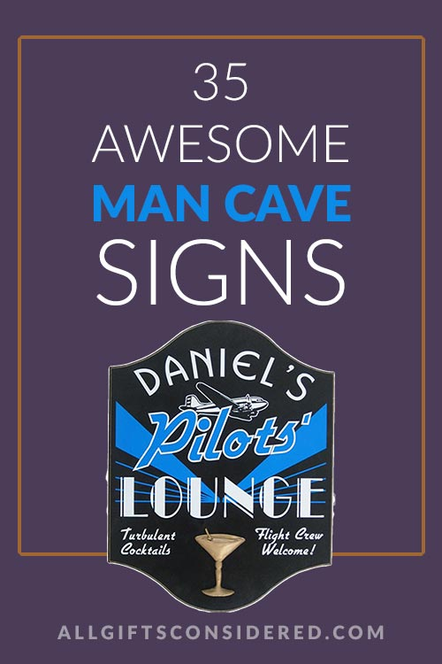 Man Cave Sign Gift Guide