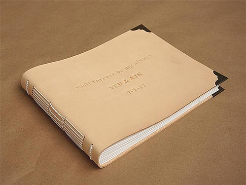 Memorial Leather Scrapbook