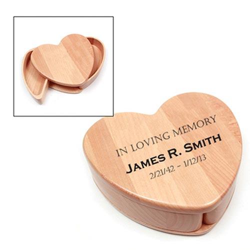 Wooden Heart Keepsake Box
