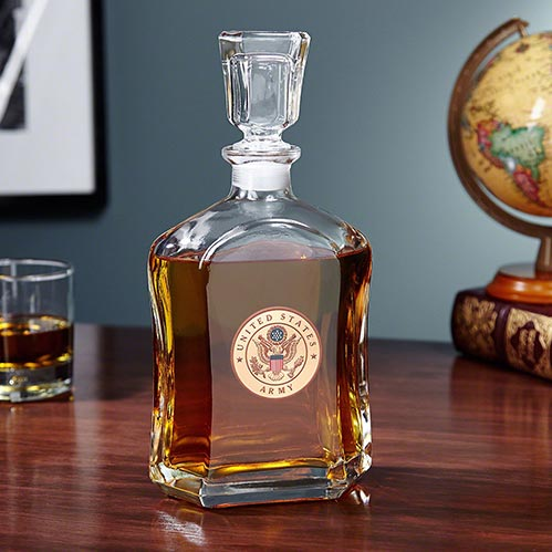 Army Glass Decanter