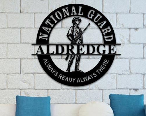 National Guard Metal Sign