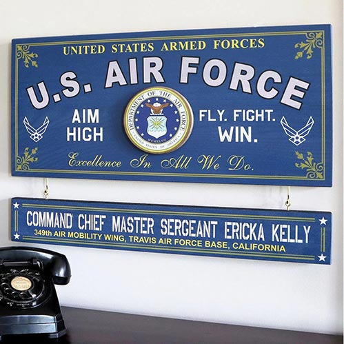 US Air Force Wooden Sign
