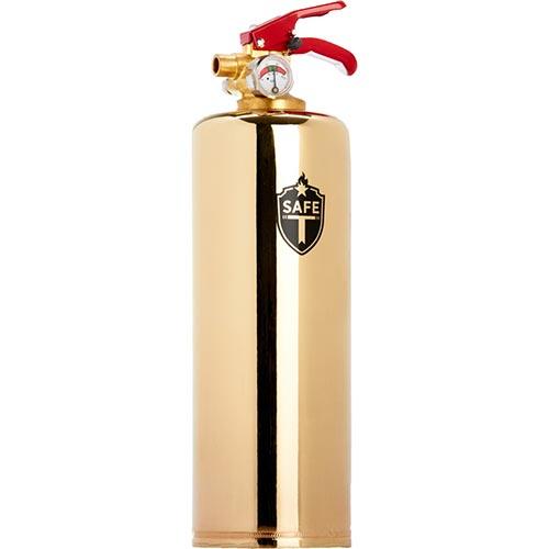 Minimalistic Brass Fire Extinguisher