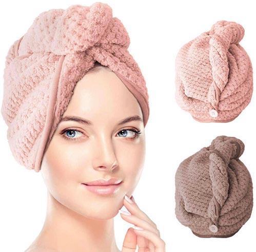 Absorbent Microfiber Hair Towel