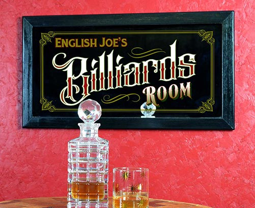 Personalized Billiards Room Sign