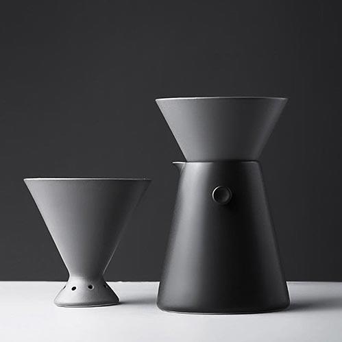 Black and Sleek Coffee Dripper