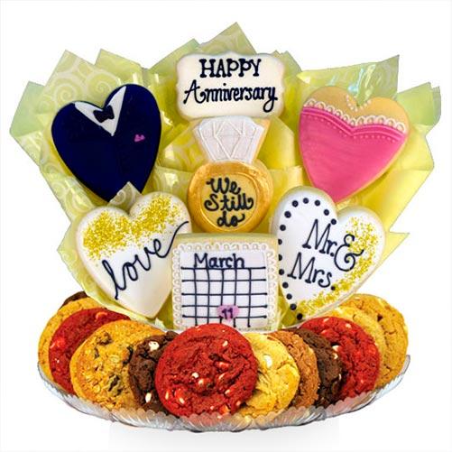 Happy Anniversary Cookie Bouquet