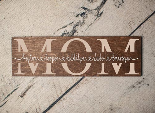 Rustic Barn House Mom Sign