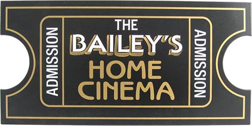 Personalized Home Theater Signs