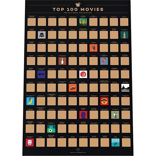 Movie Scratch Off Poster