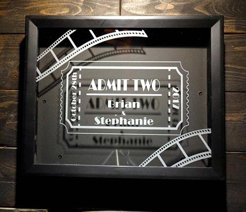 Movie Fan Gifts: Ticket Stub Shadow Box