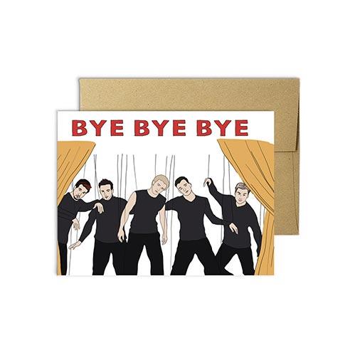 Bye Bye Bye - Fun Farewell Cards