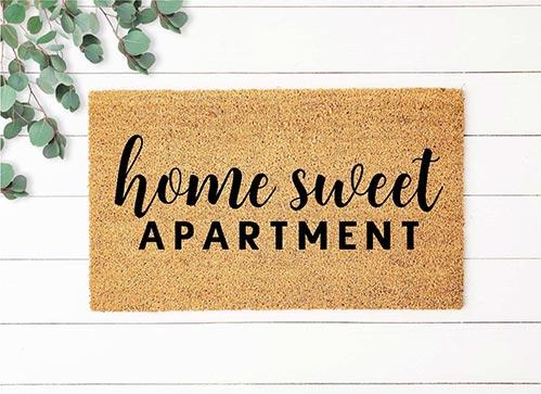 Home Sweet Apartment Door Mat