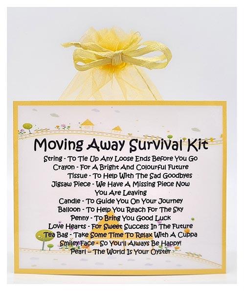 Moving Away Survival Kit
