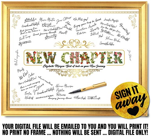 New Chapter Signature Sign