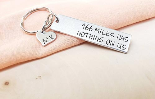 Personalized Long Distance Keychains