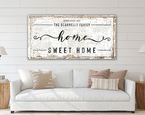 Home Sweet Home Living Room Sign