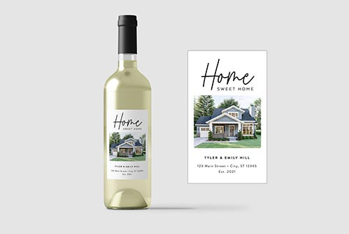 Personalized Home Sweet Home Wine Label