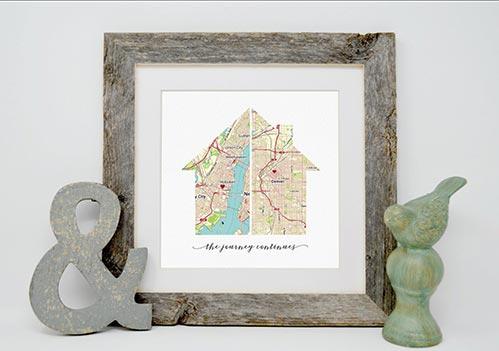 Custom Map New Home Print