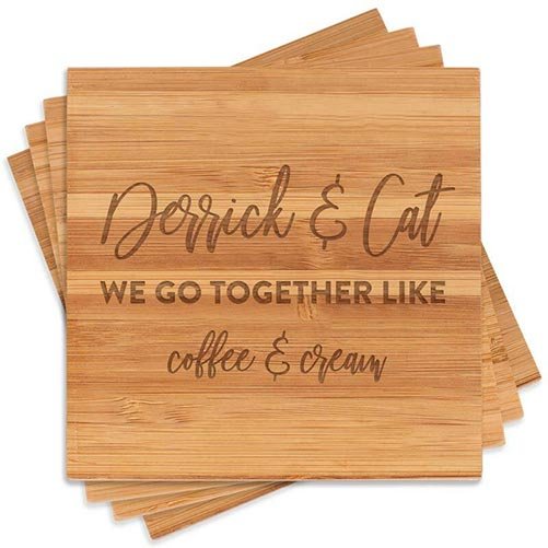 We Go Together Like - Personalized Coasters