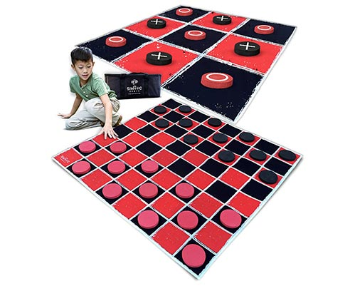 Large Tic Tac Toe and Checkers